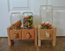 Candy dispenser. A Handmade Wood Candy Dispenser!  Makes a great Gift.
