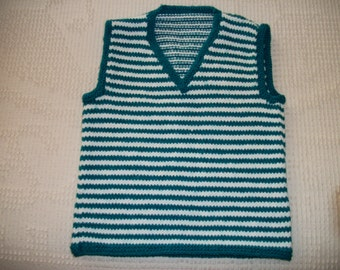 Hand Knitted Boy's Vest - 12-18 Months  New!