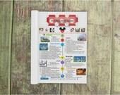 Custom Vacation Itinerary | Vacation Itinerary | Printed Planner | Printed Family Vacation | Printed Vacation Countdown | Vacation Planner