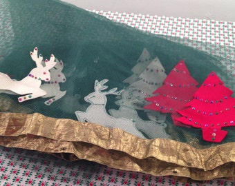 Vintage Netting Christmas Table Cover