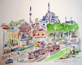 ISTANBUL AKSARAY only original ACUARELA