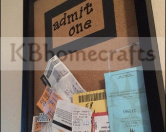 Ticket Keepsake Shadow Box - Ticket Saver - Shadow Box - Ticket Display