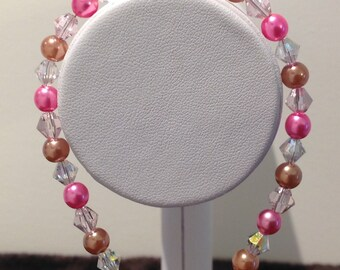 Two metal colours and crystal spacers