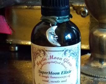 Super Moon Anointing Oil, Supermoon Perfume Oil, Moon Oil, Natural Perfume, Moon Elixir, Herbal Oil Crystal Infusion, Ritual Oil, Lunar Oil,