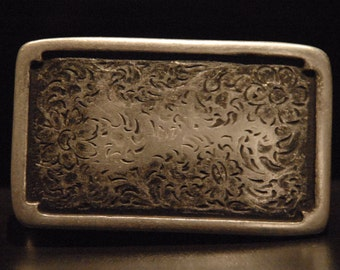 Belt Buckle - For Snap Leather Belt -  sterling silver plated