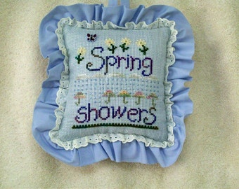 Spring Showers Decorative Pillow