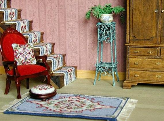 Kit Dollhouse Miniatures Needlepoint Petit Point Dollhouse