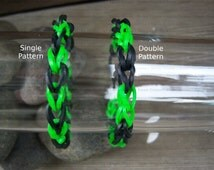 Bright Green and Black Rubber Band Bracelets Party Favor Pack