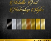 Metallic Foil Photoshop Layer Style for Designing and Scrapbooking