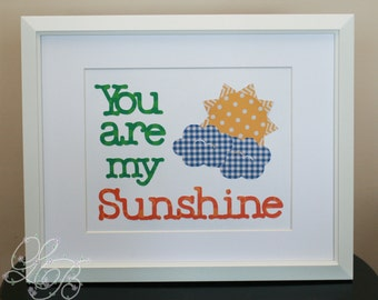 "You are my Sunshine 8x10"" Nursery/Childrens Room Art"