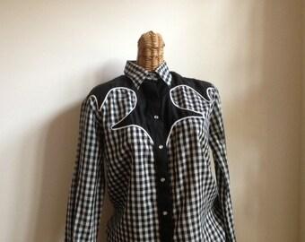 Vintage rockabilly women's Rockmount western  ranch wear western shirt