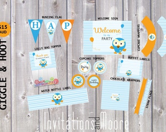 Giggle and Hoot Party Pack