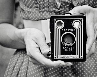 Vintage Kodak Brownie print