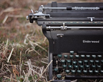 Underwood vintage typewriter print