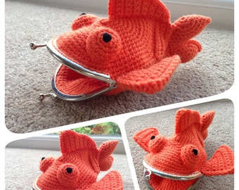 Goldfish Coin Purse Crochet Pattern