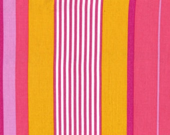 100% premium quilting cotton fabric by the yard, pink stripe designer fabric by Paula Prass for Michael Miller. Ask for more fabric yardage