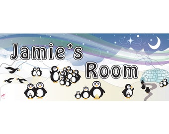 Personalized Penguin Name Sign