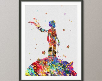 The Little Prince inspired Le Petit Prince Watercolor illustrations Art Print Giclee Wall Decor Art Home Decor Wall Hanging[NO 162]