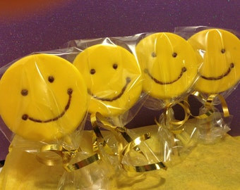 Smiley Face Pops 1 Dozen (12)