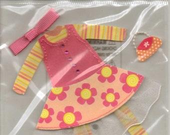 Ek Success Jolee's Boutique LITTLE GIRL CLOTHES Dimensional Stickers