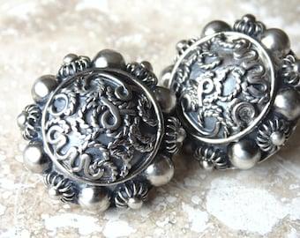 Carmen Beckmann (Bekmann) ~ Vintage Sterling Silver Earrings from Mexico