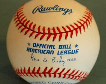 Official Rawlings American League Baseball Gene A. Budig President