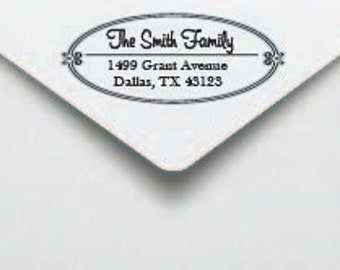 Custom Personalized Self Inking Return Address Rubber Stamp with border. Very Cute