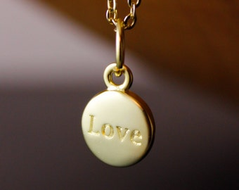 Love Necklace - Monogrammed Love Necklace - Love Charm, Love Jewelry, Gifts for Her