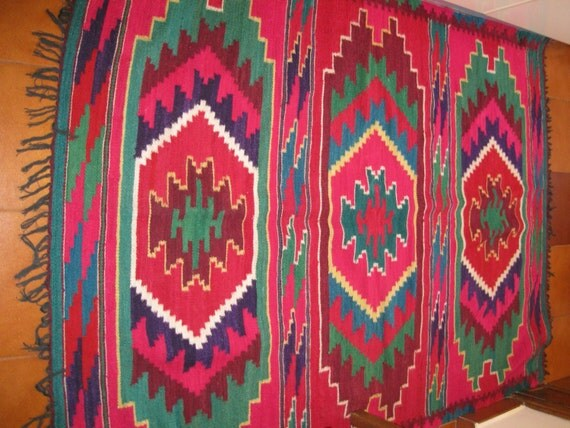 Hand Woven Romanian Traditional Kilim Romanian Rug From