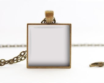 Jewelry Digital Photo Template for Antique Bronze Square pendant setting with Rolo Chain. No graphics tool needed. Ask me How.  438