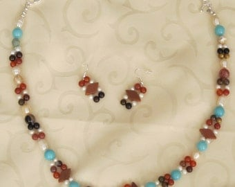 Turquoise Glory - Necklace and Earrings