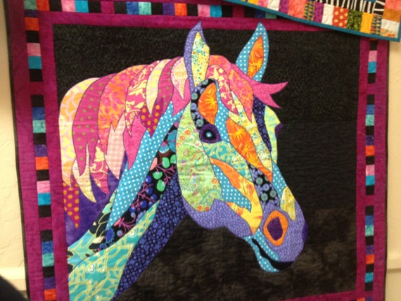 Quilt Patterns With Horses : SALE Dakota BJ Designs Horse Quilt Pattern