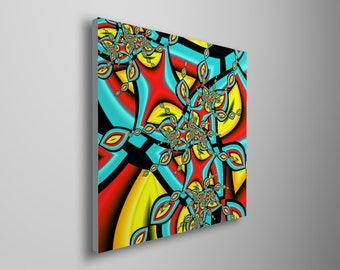Abstract art print with cheerful colors - modern art canvas print - wall decor