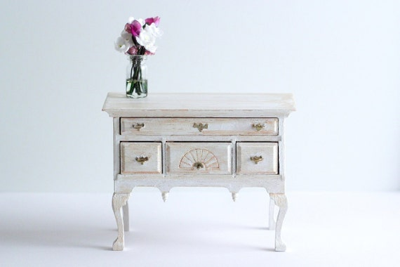 Miniature Buffet Table Rustic White Dining By