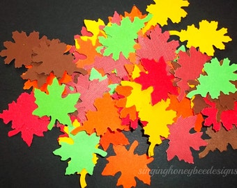 Autumn leaf confetti, Autumn leaf die cut, hand punched leaves, autumn leaves confetti, fall wedding confetti, fall leave table scatter