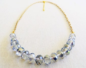 The Grace Statement Necklace on Gold Chain