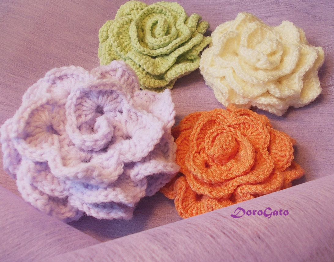 how to make crochet rose flower step by step