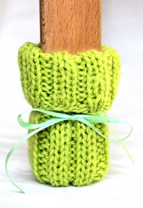 Chair Socks Knitting Pattern : chair socks green Set of 4 knitted by ChairSoxx on Etsy