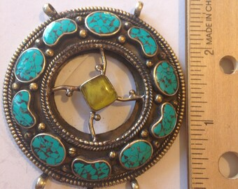 P24 Tibetan Turquoise Pendant