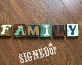 Family Wood Letters