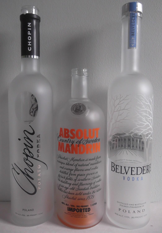 Empty liquor bottles belvedere chopin absolut by winebottlesdirect - Uses for empty liquor bottles ...