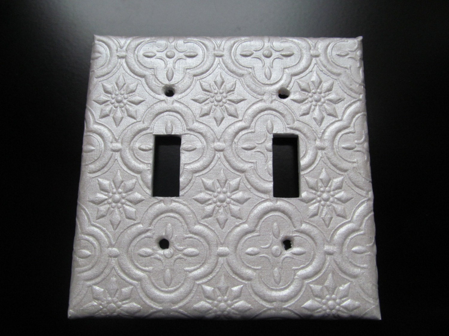 Handmade decorative light switch covers plates textured for Unique light switch plates