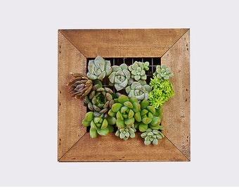 Handmade Wooden Framed Vertical Garden / succulents Planter