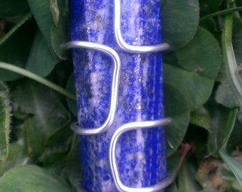 Wire Wrapped Lapis Lazuli Pendent