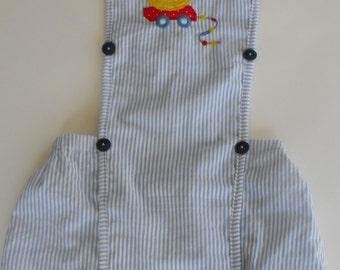 AB xxl vintage style boy sunsuit xxl, AB Boy Sunsuit, abdl Romper, AB embroidered sunsuit, Adult Baby boy sunsuit