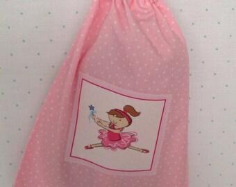 Ballerina drawstring bag, perfect for ballet shoes