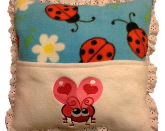 Handmade Embroidered Pocket Pillow