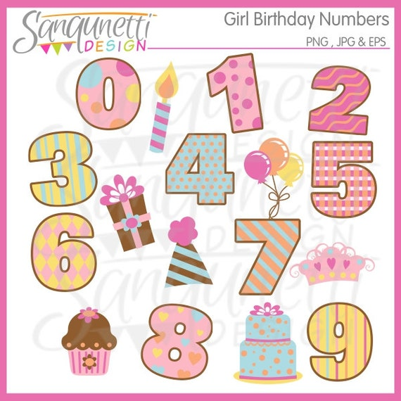 free clipart birthday numbers - photo #14