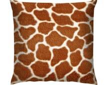 "Giraffe Fur Texture Cushion/Pillow 18"""