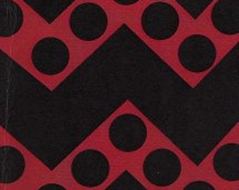 Fabric Finders Red/Black Chevron and Dots